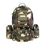 Sac à dos, sacs à dos de randonnée combinés 3 dans 1 sacs démontables / sac militaire, sac à dos militaire, sac à dos tactique pour le camping, Trekking survivre 55L sac à dos d'escalade extérieure imperméable à l'eau ( Couleur : Jungle camouflage )