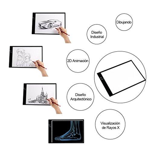 Tableta de Luz  U Kiss Tablero de Trazado Digital  Tamaño A4   Mesa de Luz 3 Tipos de Luminosidad Ajustable