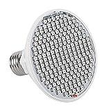 LED Coltiva la Lampadina, 85~265V 24W E27 200 LED Pannello Spettro Completo Pianta Coltiva la Lampada Luce Crescente per Interni per Serra Idroponica Verdure In Vaso Fiore
