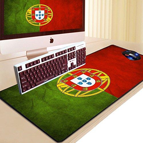 Zenguen Schreibtisch-Mausmatte, Portugal-Flagge Mauspad-Matte rutschfeste Gummi-Mausmatte Gaming-Tastaturmatte