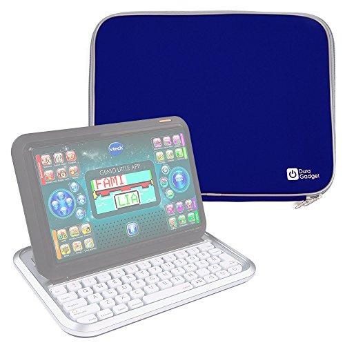 DURAGADGET Funda De Neopreno Azul Compatible Con Ordenador portátil y tablet educativo VTech - Genio Little App - Ligera Para Transportar Su Dispositivo
