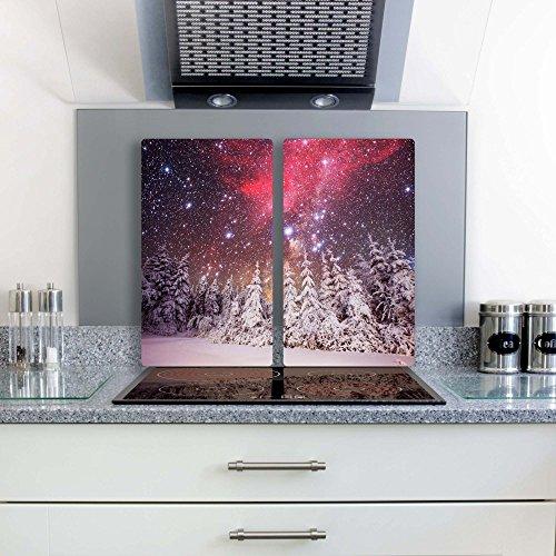 herdabdeckplatten-schneidebrett-2x-30x52-glas-weihnachten-schnee-nacht