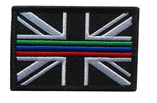 thin blue line union flag patch cops - 500×329