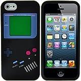 PGLtd® Rétro Nintendo Game Boy Étui Coque Souple En Silicone Pour Apple iPhone 5. Qualité Supérieure Avec Style. Noir