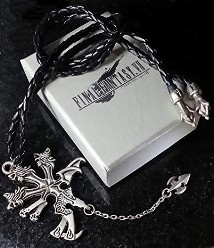 Final Fantasy VII Vincent Halskett Necklace | FF7 Kostüm Cosplay Dissidia Cloud Sephiroth XV (Final Fantasy Dissidia Cloud Kostüm)