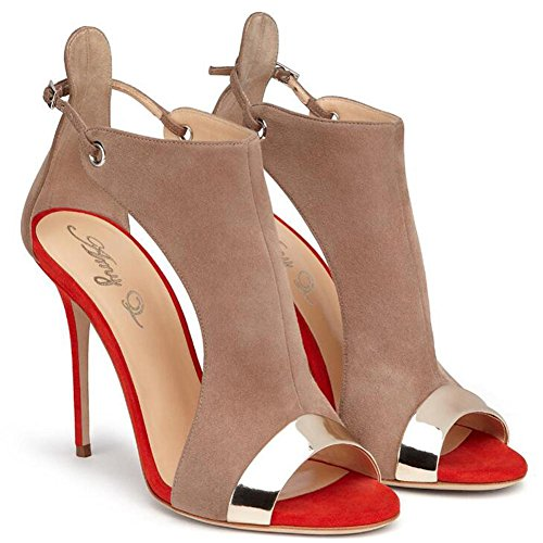 Donna Red Pompe Alto Da Tacco Sposa Incrociato L Scarpe qn1InwgtB