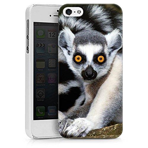 Apple iPhone X Silikon Hülle Case Schutzhülle Lemur Affe Madagaskar Hard Case weiß