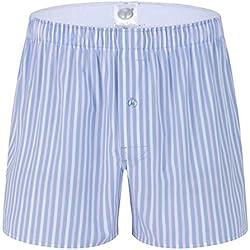 Yuanu Hombre Pantalones de Pijama Algodón Pantalones de Pijama Rayas Shorts Ropa de Dormir G2 L