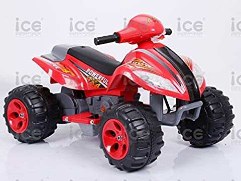 New 2017 Kids Children Ride On Motocross Quad Bike Toy Car Kids Motorbike Motorcycle Electric Scooter Motor Bicycle 6V Battery Operated Toy Trike White Yellow Black Red (Red)