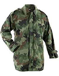 Geniune Serbian Army Issued Lined Winter Camouflage Parka - USED - GRADE 1