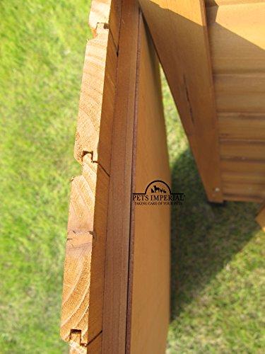 Größe Medium, isolierte Norfolk Hundehütte aus Holz mit entfernbarem Boden zur einfachen Reinigung A - 4