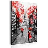 decomonkey Bilder Paris 60x90 cm 1 Teilig Leinwandbilder Bild auf Leinwand Vlies Wandbild Kunstdruck Wanddeko Wand Wohnzimmer Wanddekoration Deko Architektur Eiffelturm Stadt