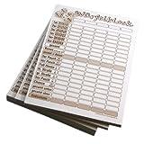 5 Stück Würfelblock, ähnlich wie Kniffelblock, 148 x105 mm A6, Würfelzettel Kniffelzettel 40 Blatt