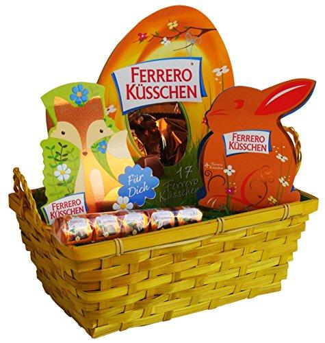 Geschenk Set Osternest mit Ferrero Küsschen Spezialitäten (4-teilig) Fertige Osternest