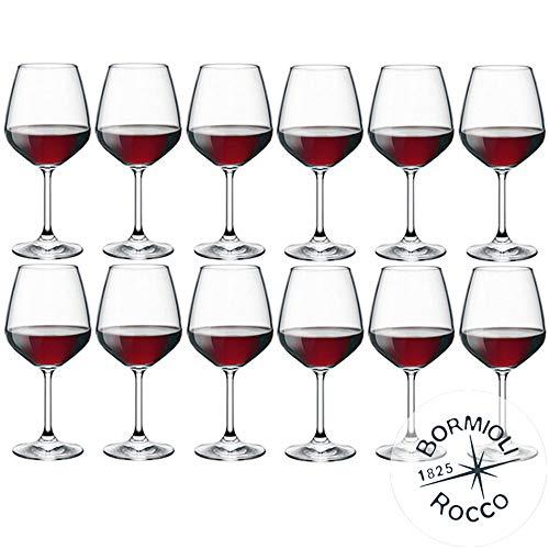 Juego de 12 copas de vino de Bormioli Rocco de la colección DiVino. Copas para vino tinto modelo Divino 53. Capacidad: 53cl. Cristal de Star Glass-La innovadora colección DiVino: una nueva serie de copas para vino de cristal de Star Glass, caracte...