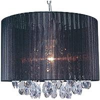 Näve Leuchten 785322 - Lámpara de techo (30 x 36 cm, tela y fibra acrílica, bombillas no incluidas), color negro