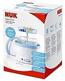 NUK 10251010 - Vaporisator / Auskocher für bis zu 5 Flaschen, Sauger und Zubehör, Farbe blau/weiss Bild 1