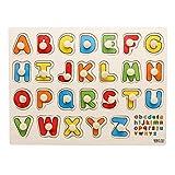 Ndier Lettre Casse-tête en Bois Casse-Tête Puzzle Formes et Jeux pour Âge 2-7 Ans Enfant Enfants Jouets Bébé 1 Set
