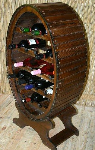 Massivholz Weinregal Flaschenregal Weinfass 19 Flaschen Holz Fichte massiv kolonial