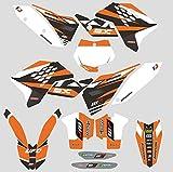 JFG Racing Aduana Personalizada Motocicleta Pegatinas Adhesivas Pegatinas Gráficos Kit para 2007-2010 KTM 125 144 150 250 450 505 SX SXF SX-F
