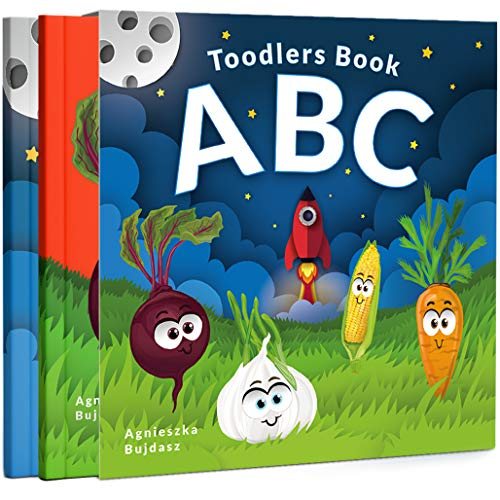 ABC Toddlers Book: 2 in 1 Illustrated English Alphabet with Vehicles & Vegetables. Here is what a preschooler should know before kindergarten! (English Edition)