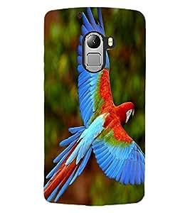 ColourCraft Beautiful Parrot Design Back Case Cover for LENOVO A7010