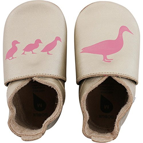 Bobux Enten Gold, Chaussures Bébé marche bébé fille Doré