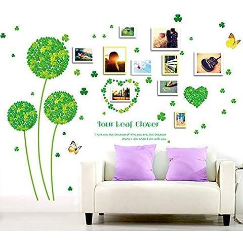 Andonger Pure And Fresh Clover inglese Lettera adesivi murali Removable elegante Creative Design Kindergarten stanza di bambini da pareti con ritratti