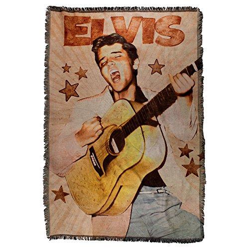 Elvis Presley on Stage Rock 'n' Roll Gewebte Überwurf Decke 48