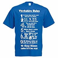 The Classic Image Company Funny Yorkshire T-Shirt - Yorkshire Rules - Yorkshireman