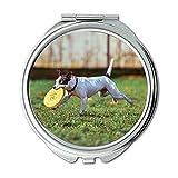 Yanteng Spiegel, Schminkspiegel, Adorable Animal Canine Niedlichen Hund inländischen aufgeregt,...