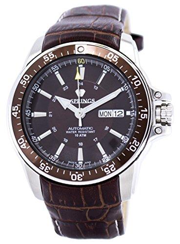J. Springs Herren Analog Automatik Uhr mit Leder Armband BEB098