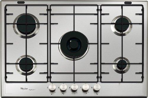 Whirlpool GMF 7521/IXL Plaque – Plaque (intégrée, gaz, acier inoxydable, rotatif, partie supérieure avant, 230 V)
