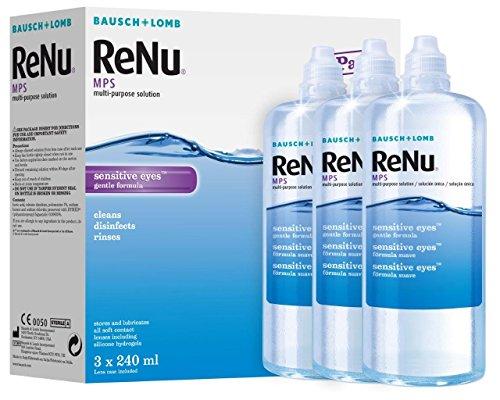Bausch & Lomb ReNu MPS Multi- Uso Soluzione gengive sensibili Occhi 3x240ml (3 mesi rifornimento)