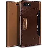 iPhone 8 case, OBLIQ [K3 Wallet][PREMIUM LEATHER] Flip Cover with Four Credit Card & ID Pocket Slots Stylish Wallet Case for Apple iPhone 8 (2017)/ iPhone 7 (2016) (Braun / Burgund)