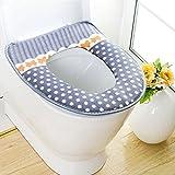 Outgeek WC Deckel weichen bequemen Tupfen gepolsterter WC Sitz Sitzkissen - 2