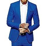 P.L.X Maenner Anzug Slim Fit Zweiteiliger Herren Hochzeitsanzug Smokings