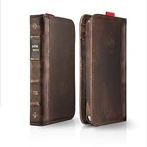 PELTEC@ Premium Retro Look Kunst-Leder Tasche wie Bookbook Case Cover Schutz für iPhone 5