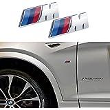 Appson 2pcs M rendimiento deporte aleación insignia emblema adhesivo para coche para BMW universal S198X 2