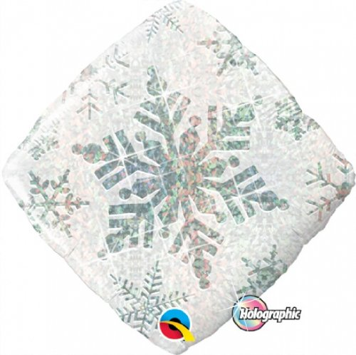 "Single Source Party Suppies - 18"" Snowflake Sparkles White Mylar Foil Balloon by Single Source Party Supplies"