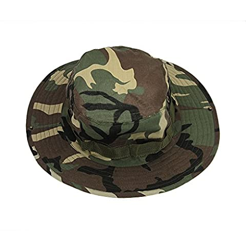 Liying Camouflage Wide Brim Boonie Fisherman Sun Bucket Hat Jungle