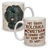 Kaffeebecher mit Motiv Hund Große XXL Tasse Bolonka Zwetna
