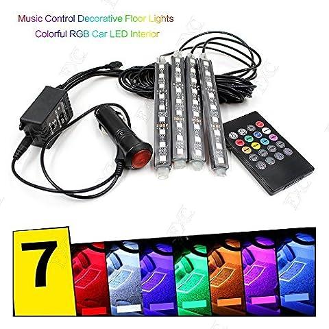 Neon Infrarouge - 7Couleur 9LED Musique contrôle télécommande de voiture