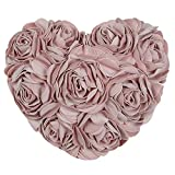 Jwh 3D rose fiore in cuore floreale cuscino Pillow Gift...