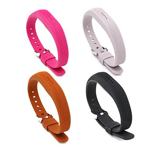 Preisvergleich Produktbild Woodln Sportarmband Soft Silikon Uhrenarmband Band Zubehör Ersatzband Fitness Armband für Fitbit Flex 2 Fitness-Armband (Pink/Grey/Coffee/Black)