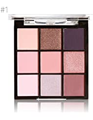 Cocohot 9 Couleurs Naturel Visage Contour Maquillage Fard À Paupières Palette Lumineux Mat Shimmer Smoky Étanche Longue durée Ombre À Paupières