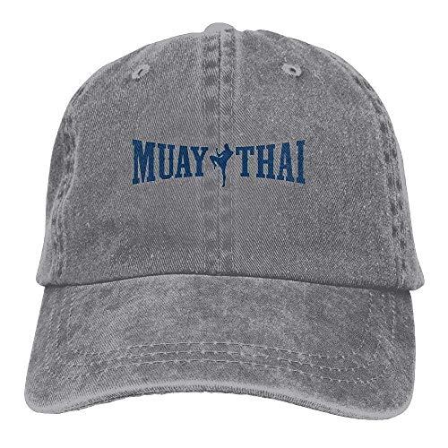 Muay Thai Logo Kickboxing Sport Classic Cotton Dad Hat Adjustable Plain Cap Custom Denim Baseball Cap for Adult Satin Wool Cap