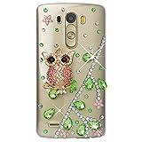 Spritech(TM) Hohe Qualität Strass Schutzhülle LG G5 Case Cover Bunte PC Material Muster Stylisches Designer Case echten Kristallen Handy Tasche Etui
