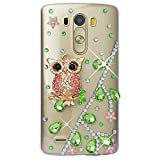 Spritech (TM) – Carcasa 3d bricolaje Bling Strass diamante case casos transparente Back Cover Cristal Funda Cráneo Funda Hard Carcasa para LG Optimus G3 D850 VS985 D851, A19, LG G4 - Spritech - amazon.es