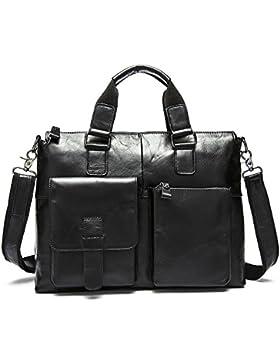 Stepack Marken-Männer echtes Leder-Kurier-Beutel-Schulter-Beutel für Aktenkoffer-Handtasche
